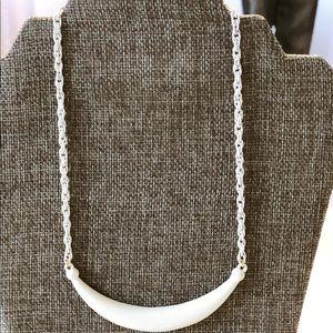 "NWOT White Enamel Vintage Necklace 15"""